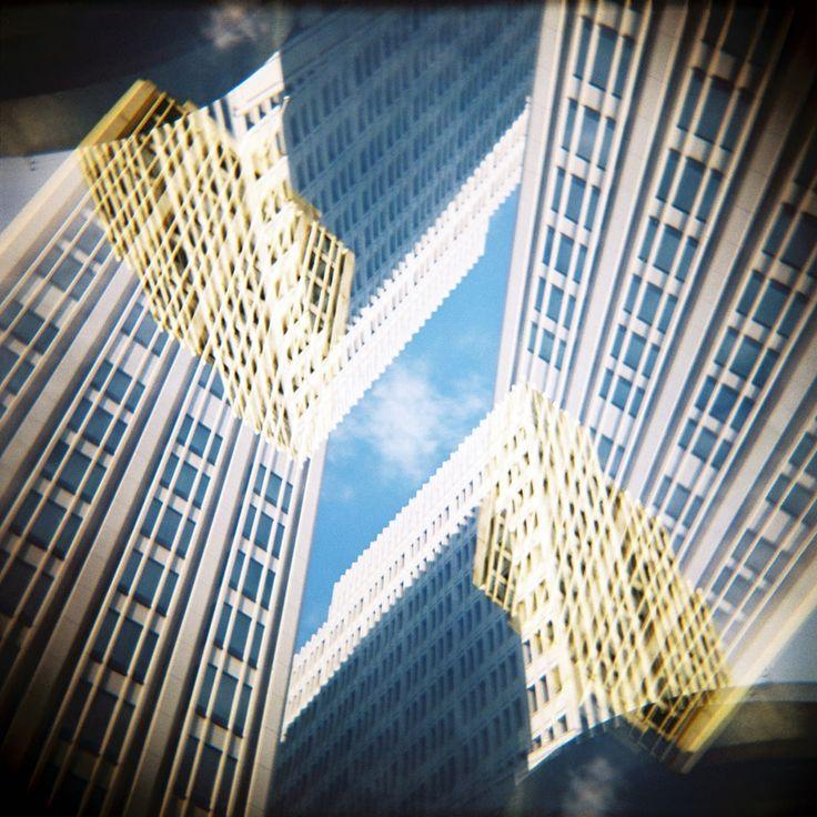 flipped world - Berlin 4       #analog 180° #doubleexposure on #Kodak #Portra.