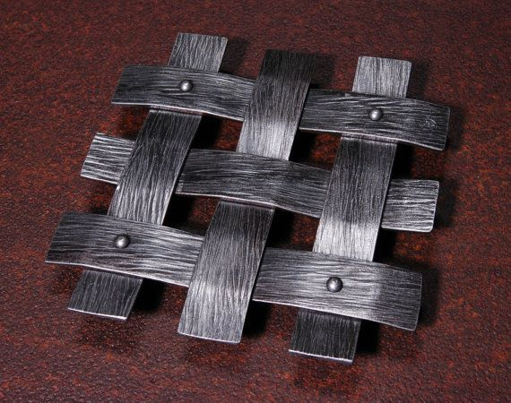 hand forged trivets | Hand Forged Iron Lattice Trivet by IronAntlerForge on Etsy