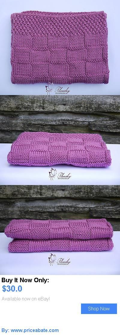 Baby: Handmade Crochet Knitted Newborn Baby Girl Purple Cot Blanket/Car Seat/Stroller BUY IT NOW ONLY: $30.0 #priceabateBaby OR #priceabate