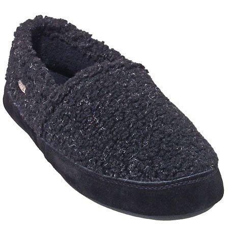 Acorn Slippers Men's Tex Moc Black Berber Slippers A10086 ACE