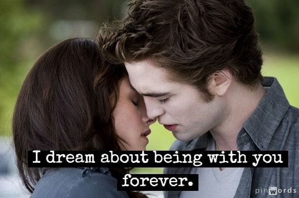 A collection of romantic love quotes from the Twilight saga of books and movies.