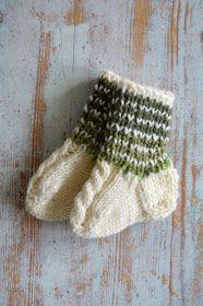 VIRKKASIN: Palmikko villasukat vauvalle