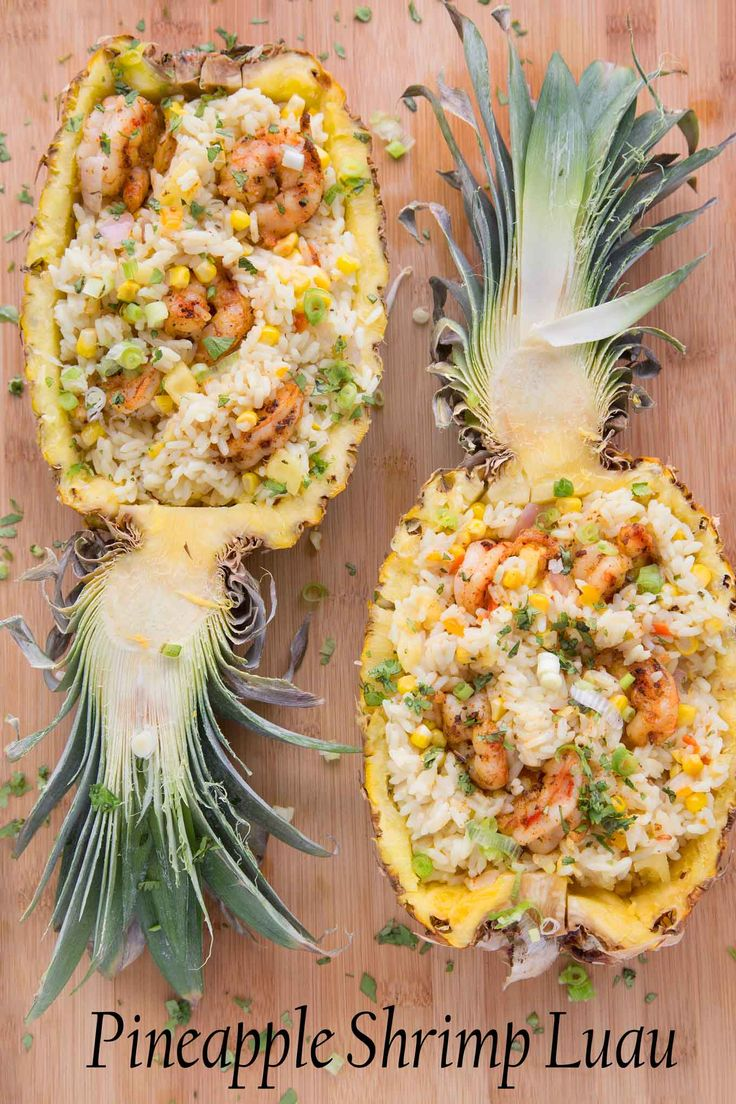 Pineapple Shrimp Luau for a Tropical Island Dinner at Home