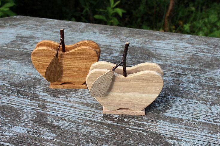 Купить Деревянная салфетница Яблоко - подарок женщине на новоселье - салфетница, салфетница из дерева, салфетница деревянная