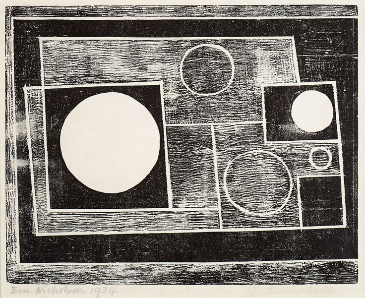abstract design 1934 was Ben Nicholson's only woodcut, and his first print to be editioned.