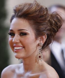 Prom hair up do. Wish I would've seen this BEFORE prom. And Miley Cyrus is in it!