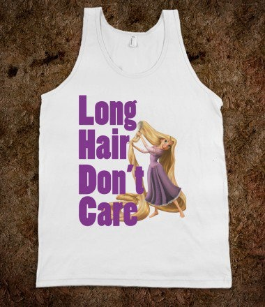 Long hair don't care     Rapunzel Tangled
