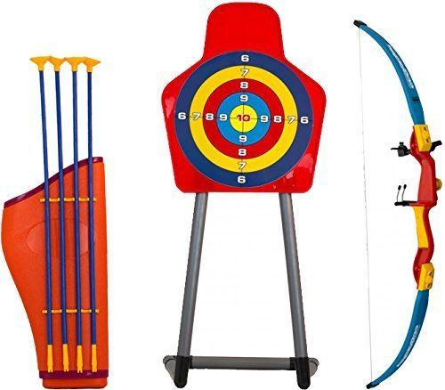 Kids Toy Bow Arrow Holder Archery Set With Target Outdoor Garden Childs Fun Game #archeryset #kids #outdoor #toys #target