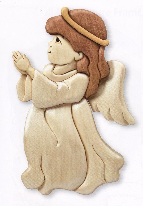 Intarsia Angel by YourPortraitInWood on Etsy, $40.00