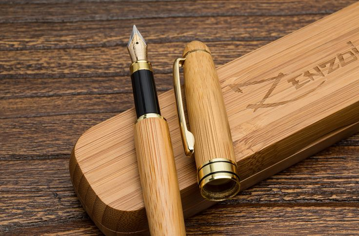 Fountain Pen with Gift Case - 100% Handcrafted Bamboo - Vintage Calligraphy Set with Ink Converter
