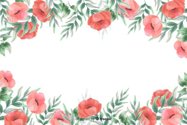 Download Red Flowers Frame Background With Watercolor Design For Free In 2020 Watercolor Design Vector Free Red Flowers