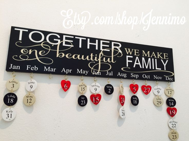 Together We Make One Beautiful Family Birthday Board Birthday Calander by jennimo on Etsy https://www.etsy.com/listing/225894057/together-we-make-one-beautiful-family