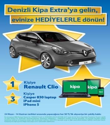 Denizli Kipa Extra Renault Clio Çekiliş Kampanyası  http://www.kampanya-tv.com/2013/04/denizli-kipa-extra-renault-clio-cekilis.html
