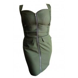 Rebel Circus EXCLUSIVE Green Combat Rock Sergeant Dress