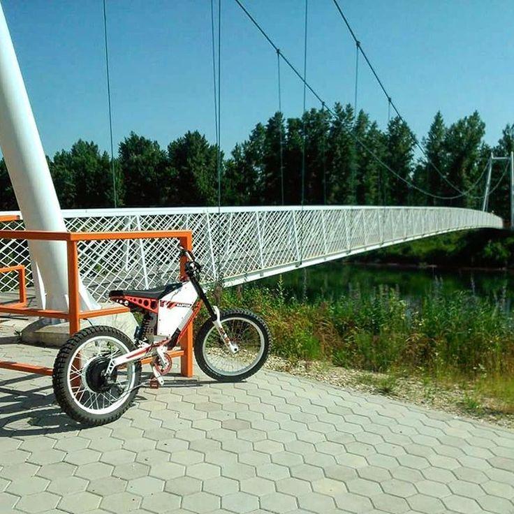 "50003 Likes #ebike - Ebike (@ebike_eu) on Instagram: ""Ebike on bridge in #Slovenia 6 kw /10 kw peak - Cromotor inside . Pict : @damijandamek Motor : Us …"""