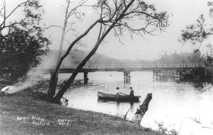Narara Creek road bridge,West Gosford in 1908.A♥W