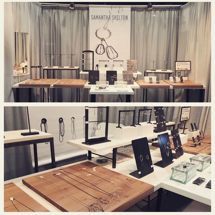 Samantha Skelton jewelry design booth display