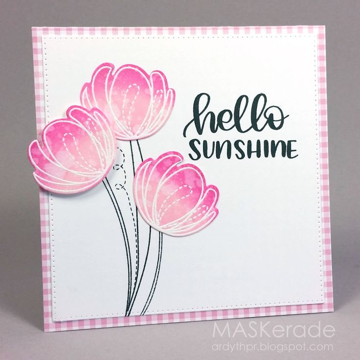 Here's my card for this week's Muse challenge where Jenni gave us a sweet baby card as inspiration: I focused on Jenni's: -pink w...