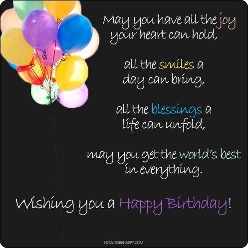 Geburtstag, Alles Gute Zum Geburtstag Freund Zitiert, Happy Birthday  Nachrichten, Angebot Für Freunde