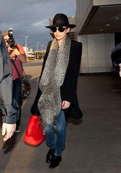 la modella mafia Fashion Week Fall 2013 street style icon - Nicole Richie at the airport