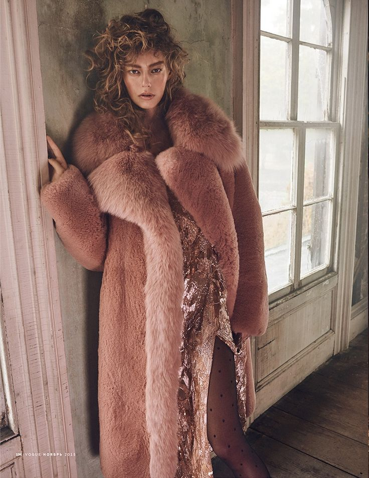 AW16 - Victoriana trend - BLUSH hues - fur coat - embellished dress - Ondria-Hardin-Vogue-Russia-November-2015-Cover-Editorial03