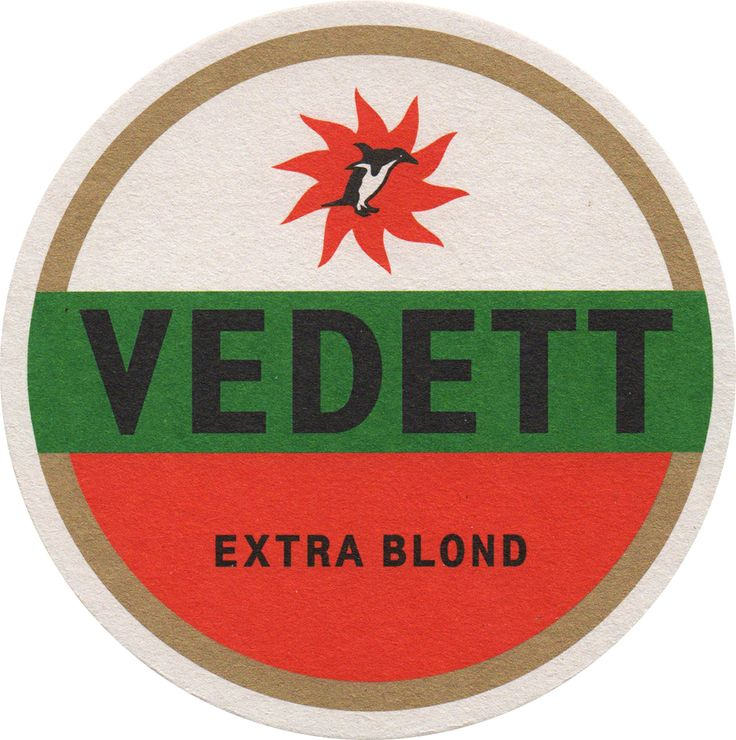 Beermat - Coaster - Sous-Bock Vedett beer, bière. http://www.collection-duvel.net