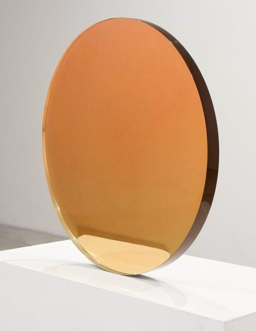 DEWAIN VALENTINE Circle Sepia To Rose, 1970 Cast Polyester Resin18""