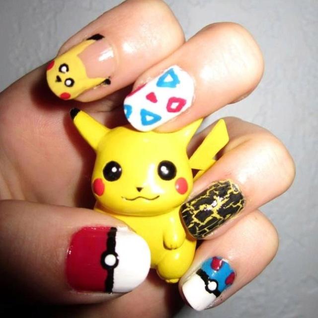 Pokemon: Pokemon Nails, Nail Polish, Stuff, Fun Nails, Art Ideas, Beauty, Nail Ideas, Nail Art