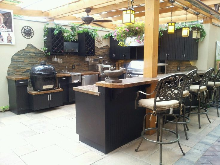 Find This Pin And More On Green Egg Outdoor Kitchen