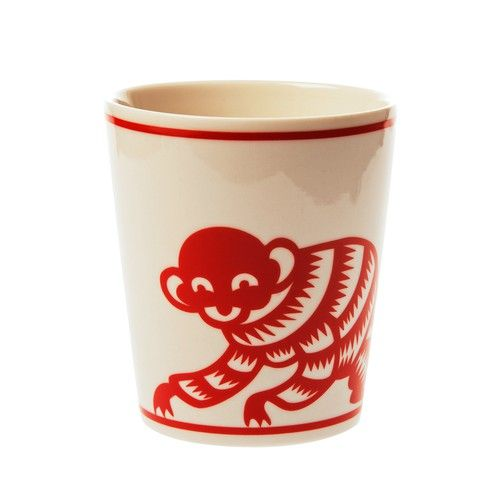 AGNES FRIES, PAPERCUT MONKEY CUP: from the zodiac series of porcelain cups.