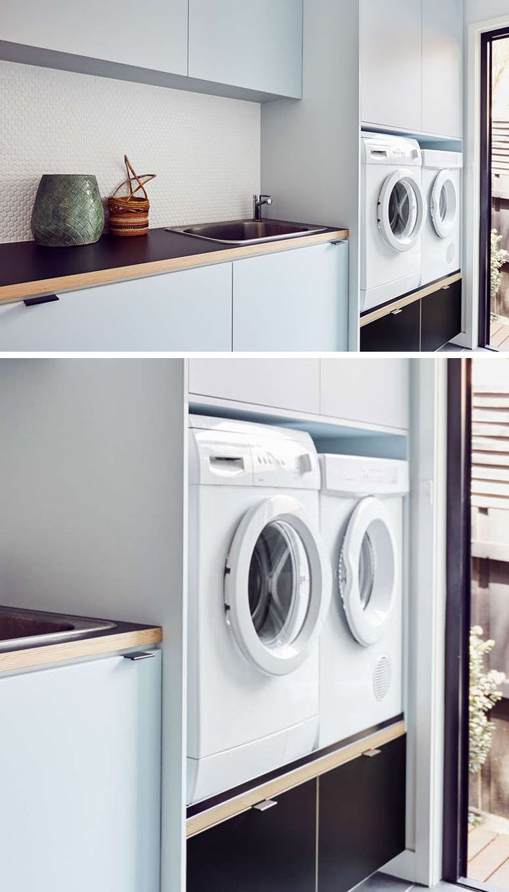 Laundry Room Design Idea - Raise Your Washer And Dryer Up Off The Floor