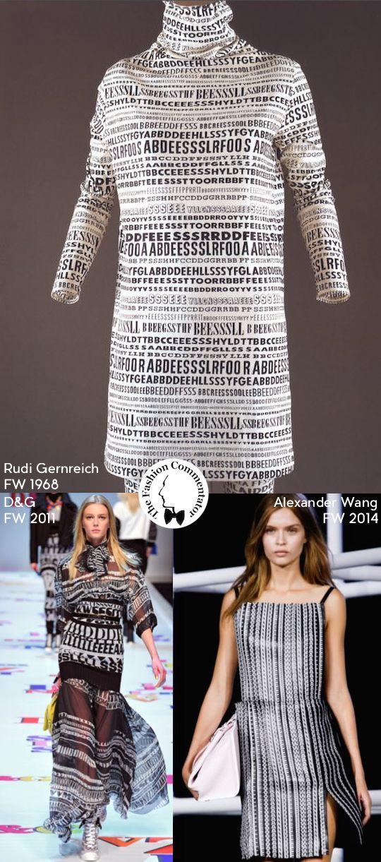#FashionLoop 3 - Lettering in Fashion - Rudi Gernreich FW1968, DeG FW2011, Alexander Wang FW2014