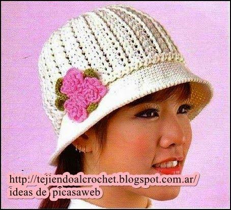 123 best gorros images on Pinterest   Sombrero de crochet, Gorros ...