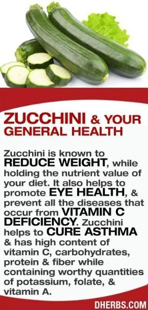 Zucchini is known to reduce weight, while holding the nutrient value of your diet. It also helps to promote eye health, & prevent all the diseases that occur from vitamin C deficiency. Zucchini helps to cure asthma & has high content of vitamin C, carbohydrates, protein & fiber while containing worthy quantities of potassium, folate, & vitamin A. #dherbs #healthtips by roecampy