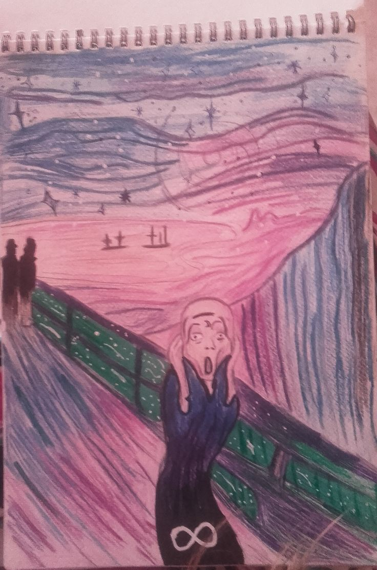 S C R E A M  -drawing briny- inspire by Edvard Munch