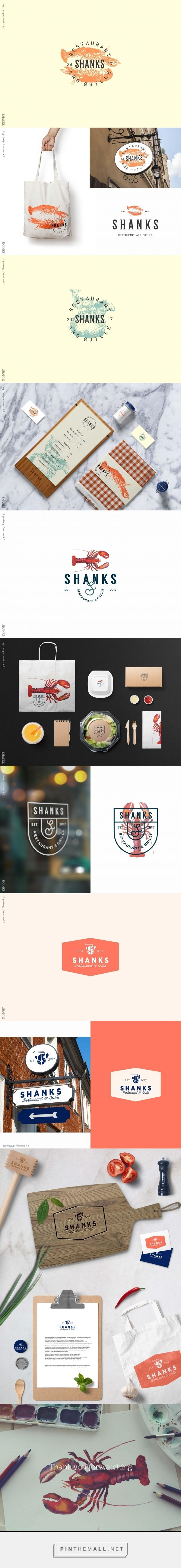 Shanks Restaurant and Grille Branding Concepts by