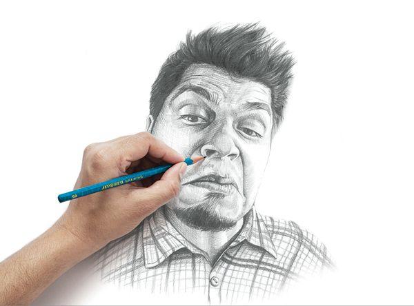 Apsara pencil - Reacting portraits by Vipin Baria