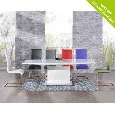 Hayden 160cm High Gloss Furniture Purple Extending Dining Set