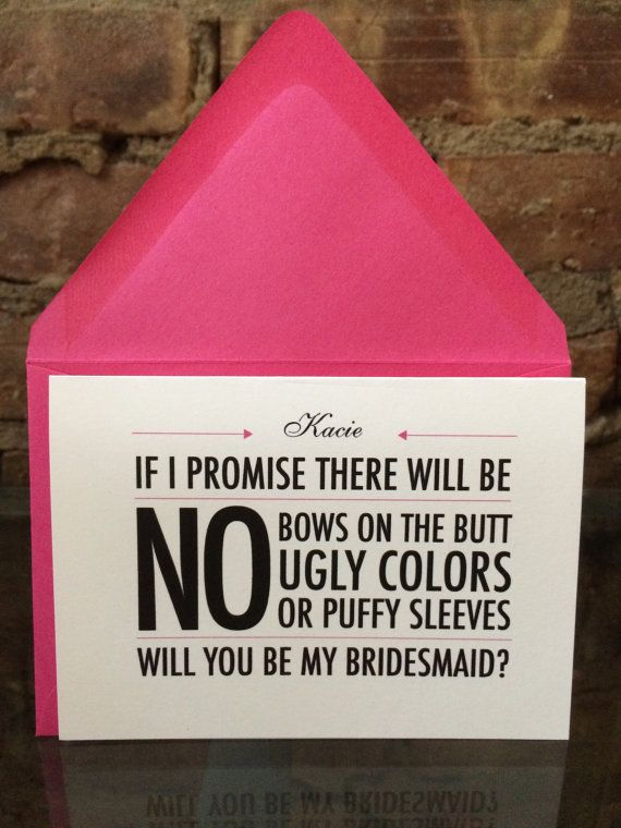 Personalized Will you be my Bridesmaid Cards by LittleLadyCompany, $3.50