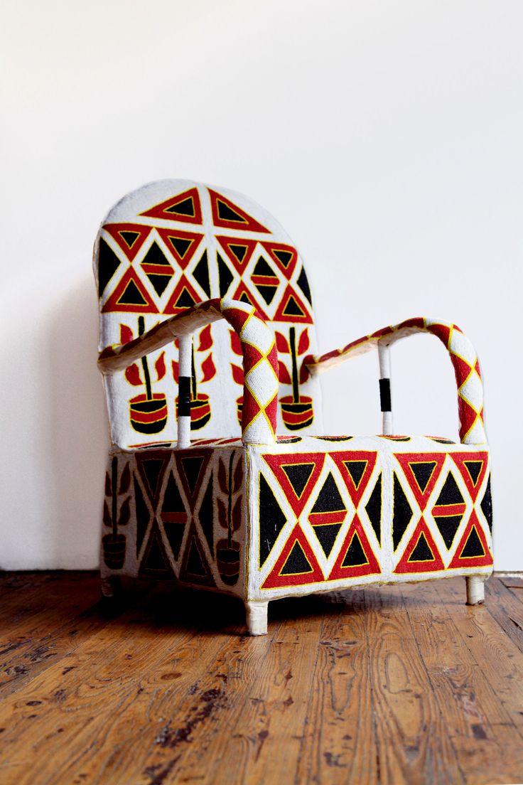 Knoll life chair geek - All About Beaded Yoruba Chairs Design Geek Beaded Yoruba Chairs