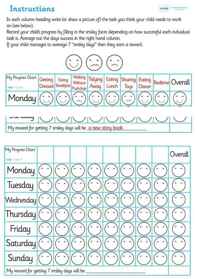 Behavior Calendar Kindergarten : Individual behaviour chart general classroom pinterest