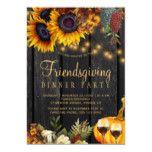 Autumn fall harvest barn wood friendsgiving dinner invitation | Zazzle.com