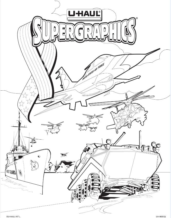 u haul supergraphics coloring contest pages - photo #3
