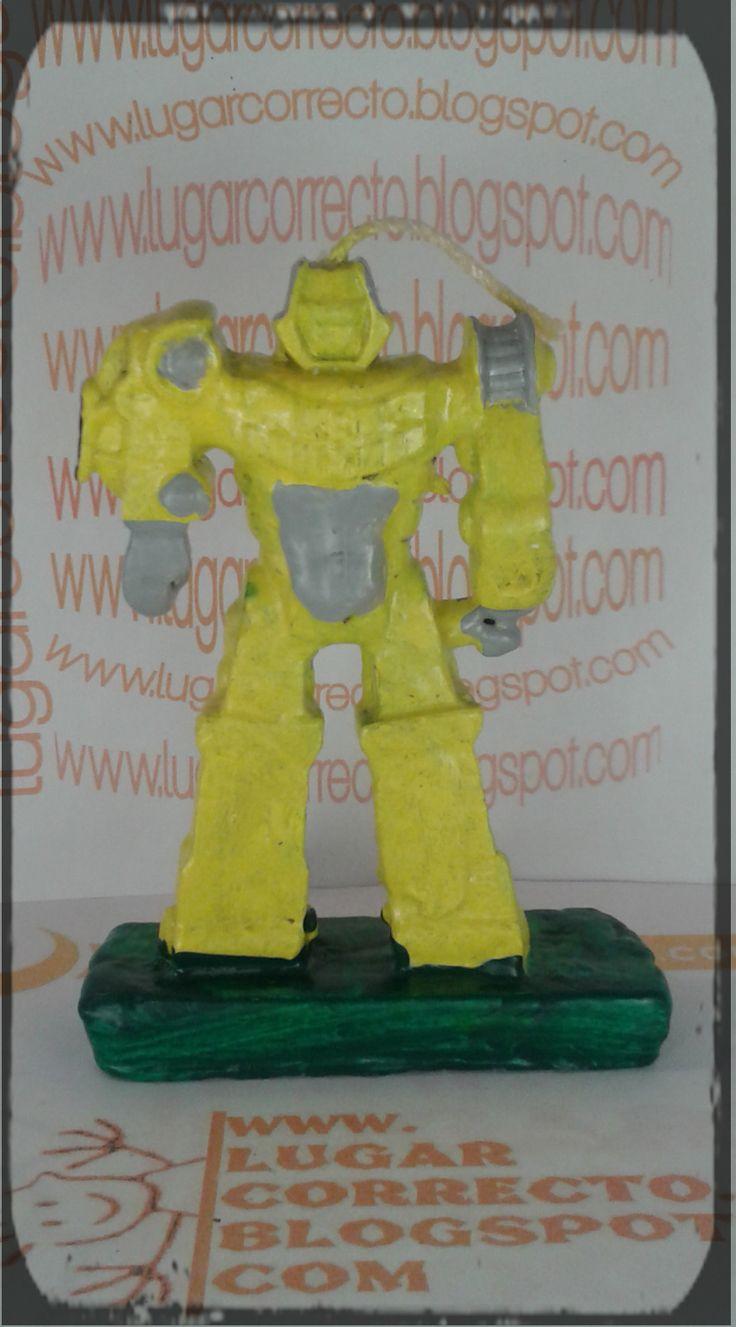 VELAS PARA PASTEL TRANSFORMERS - más modelos en www.lugarcorrecto.blogspot.mx