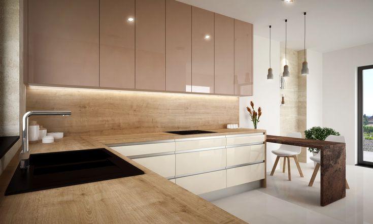 Kuchyňa v príjemných zemitých farbách - ako stvorená pre čas strávený v kruhu rodiny...