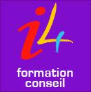 I4 formation conseil : coup de frais sur le logo. De nouvelles couleurs plus dynamiques dans un carré simple et efficace