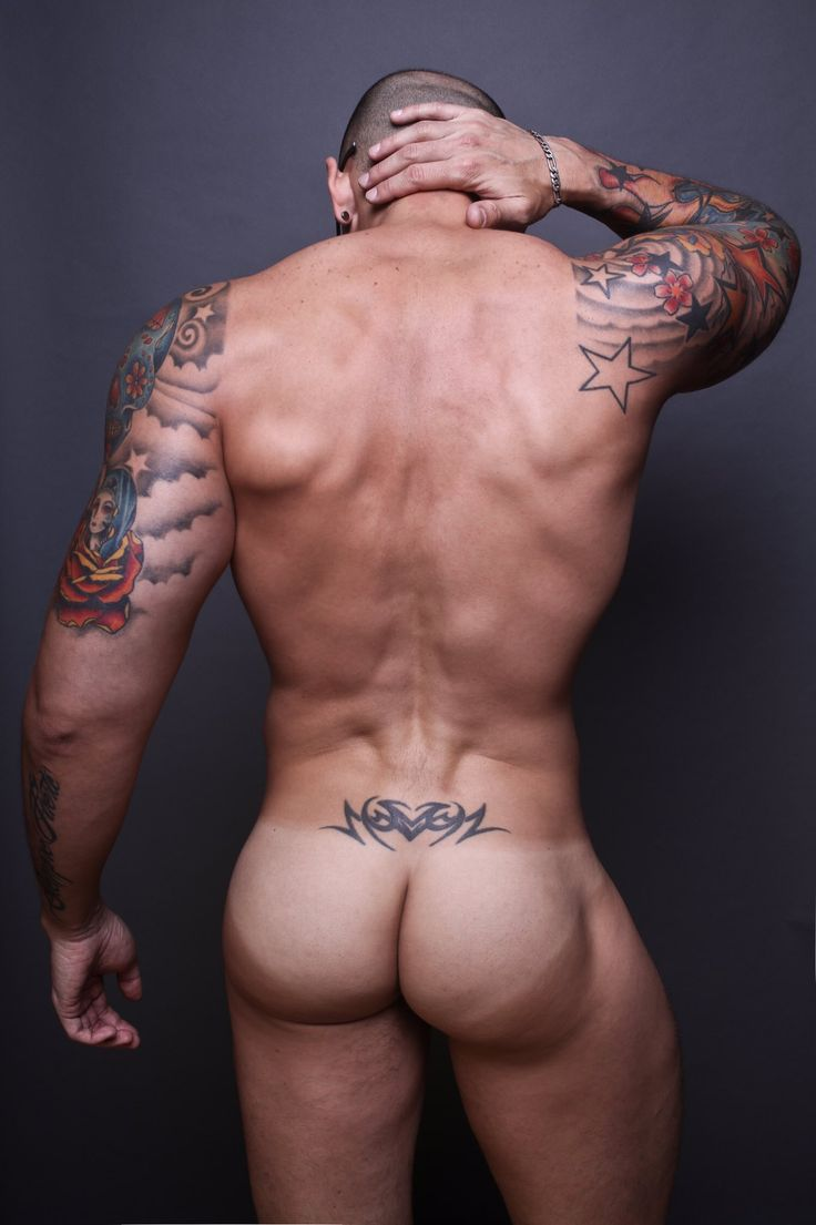 nude guys with tattoo