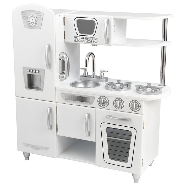 This vintage kitchen lets kids pretend they are cooking big feasts for the whole family. With its close attention to detail and interactive features, this adorable kitchen would make a great gift for any of the young chefs in your life.
