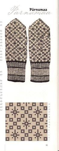 Pärnumaa mitten pattern from Estonia