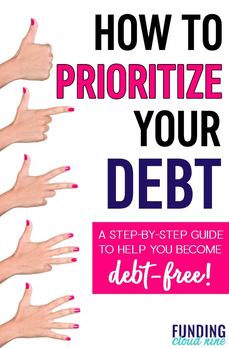 Find out the steps you need to take to prioritize and pay off your debt today!